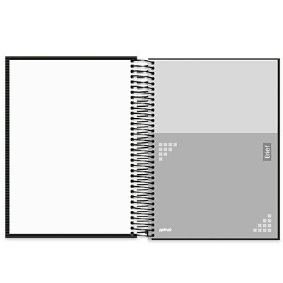Caderno universitário capa dura 10x1 160 folhas Brief Case Preto 211957 Spiral PT 1 UN