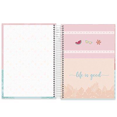 Caderno universitário capa dura 10x1 160 folhas Tendency Flamingo 211917 Spiral PT 1 UN
