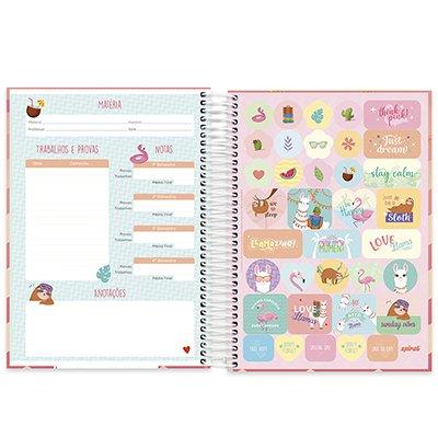 Caderno universitário capa dura 10x1 160 folhas Tendency Lhama 211919 Spiral PT 1 UN