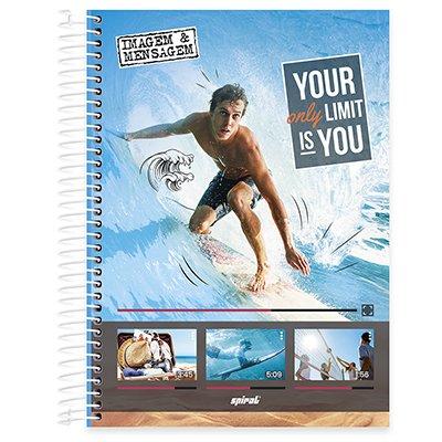 Caderno universitário capa dura 10x1 160 folhas Imagem e Mensagem 211859 Spiral PT 1 UN
