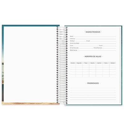Caderno universitário capa dura 10x1 160 folhas Imagem e Mensagem 211861 Spiral PT 1 UN