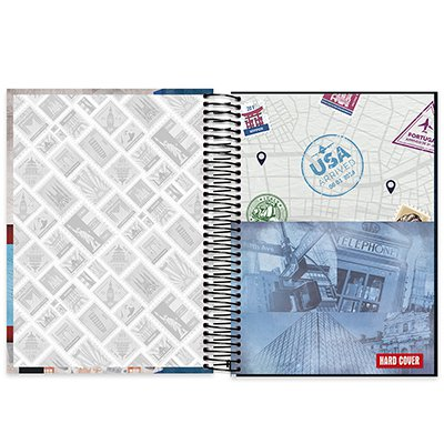 Caderno universitário capa dura 10x1 160 folhas Hard Cover London 211852 Spiral PT 1 UN