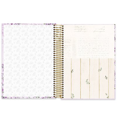 Caderno universitário capa dura 10x1 160 folhas Femmina Lilás 211843 Spiral PT 1 UN