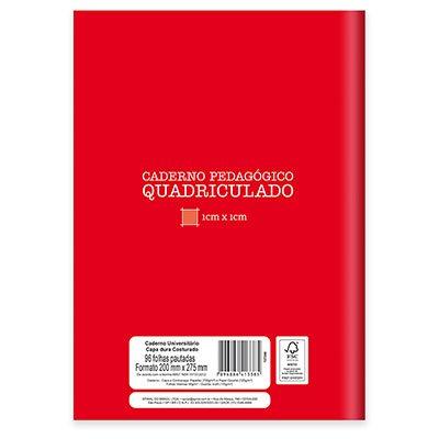 Caderno Universitário Capa Dura costurado 96 fls quadriculado vermelho 19956 Spiral  PT 1 UN