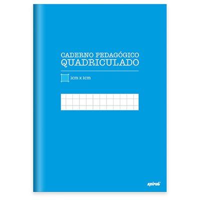 Caderno Universitário Capa Dura costurado 96 fls quadriculado azul 19957 Spiral  PT 1 UN