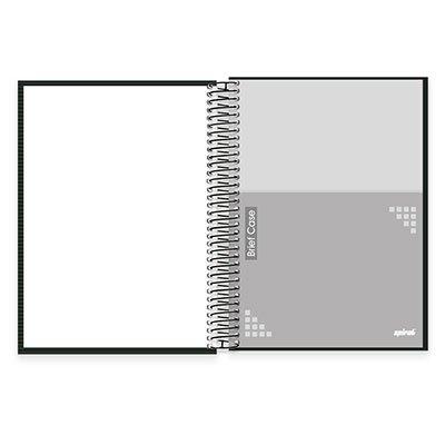 Caderno universitário capa dura 10x1 200 folhas Brief Case Preto Spiral PT 1 UN