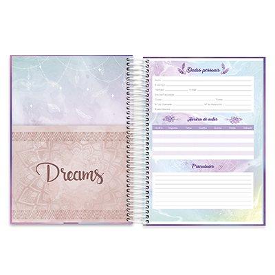 Caderno univ.capa dura 10x1 200fl Dreams 20542 Spiral Dms PT 1 PT