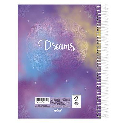 Caderno univ.capa dura 20x1 400fl Dreams 20685 Spiral Dms PT 1 UN