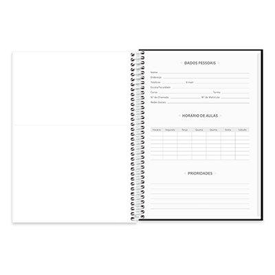 Caderno universitário capa dura 1x1 96 folhas Lumi 20363 Spiral PT 1 UN