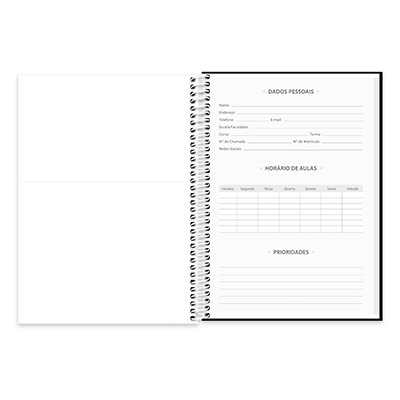 Caderno universitário capa dura 1x1 96 folhas Lumi 20365 Spiral PT 1 UN