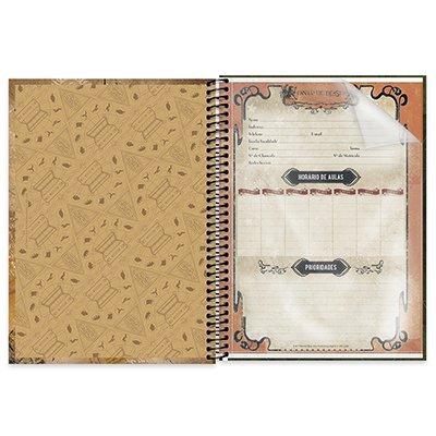 Caderno universitário capa dura 1x1 80 folhas Animais Fantásticos e Onde Habitam 211539 Spiral PT 1 UN