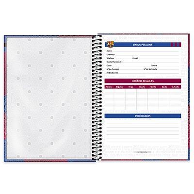 Caderno universitário capa dura 1x1 80 folhas Barcelona 211542 Spiral PT 1 UN