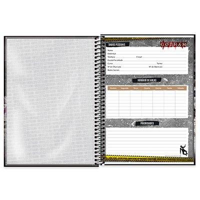 Caderno universitário capa dura 1x1 80 folhas Gotham Coringa 211577 Spiral PT 1 UN