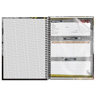 Caderno universitário capa dura 1x1 80 folhas Gotham Pinguim 211578 Spiral PT 1 UN