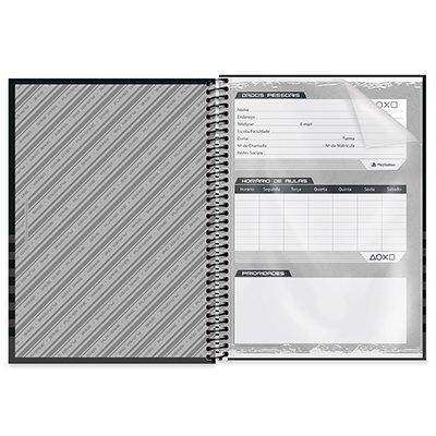 Caderno universitário capa dura 1x1 80 folhas Playstation 211637 Spiral PT 1 UN