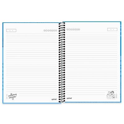 Caderno universitário capa dura 1x1 80 folhas Turma da Mônica Cebolinha e Cascão 211668 Spiral PT 1 UN