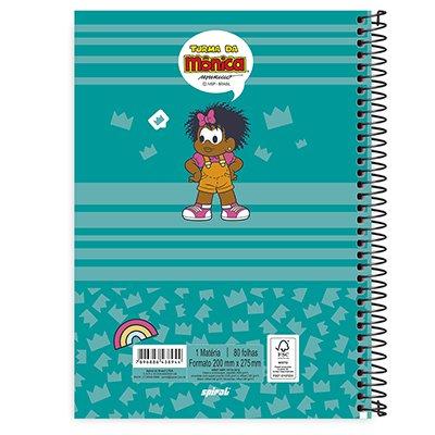 Caderno universitário capa dura 1x1 80 folhas Turma da Mônica Milena 211669 Spiral PT 1 UN