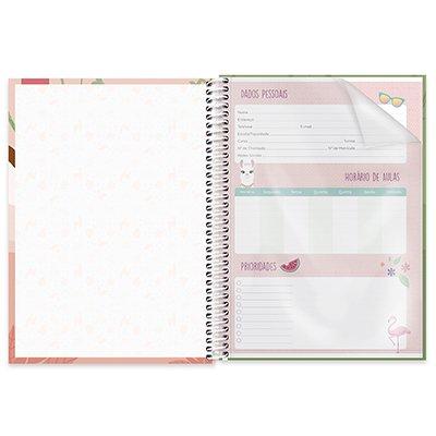 Caderno universitário capa dura 1x1 80 folhas Tendency Bicho Preguiça 211654 Spiral PT 1 UN