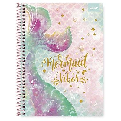 Caderno universitário capa dura 1x1 80 folhas Tendency Sereia 211661 Spiral PT 1 UN