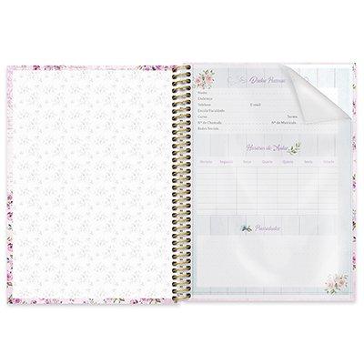 Caderno universitário capa dura 1x1 80 folhas Femmina Rosa 211571 Spiral PT 1 UN
