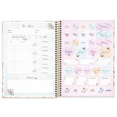 Caderno universitário capa dura 1x1 80 folhas Femmina Nude 211574 Spiral PT 1 UN