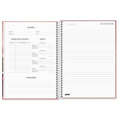 Caderno universitário capa dura 1x1 80 folhas Imagem e Mensagem 211592 Spiral PT 1 UN