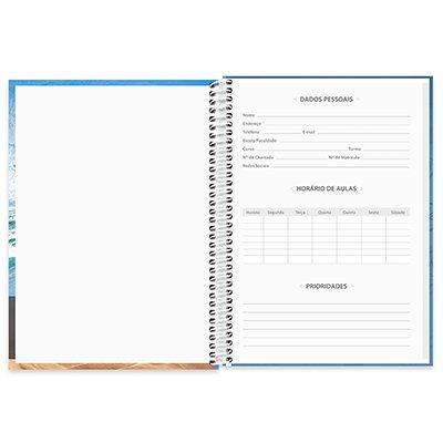 Caderno universitário capa dura 1x1 80 folhas Imagem e Mensagem 211593 Spiral UN 1 UN