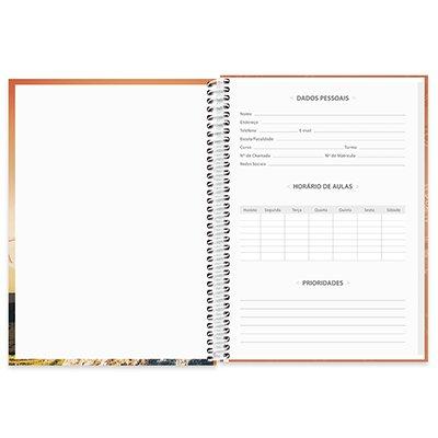 Caderno universitário capa dura 1x1 80 folhas Imagem e Mensagem 211594 Spiral PT 1 UN