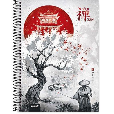Caderno universitário capa dura 1x1 80 folhas Zen 211679 Spiral PT 1 UN