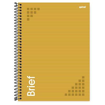 Caderno universitário capa dura 1x1 80 folhas Brief Case Amarelo 211694 Spiral PT 1 UN