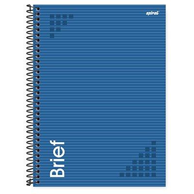 Caderno universitário capa dura 1x1 80fls Brief azul 211695 Spiral PT 1 UN