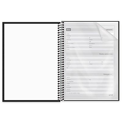 Caderno universitário capa dura 1x1 80 folhas Brief Case Preto 211697 Spiral PT 1 UN