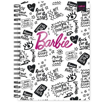 Caderno universitário capa dura 10x1 160 folhas Barbie Premium 211809 Spiral PT 1 UN