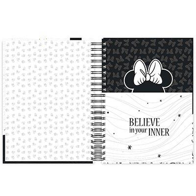 Caderno universitário capa dura 10x1 160 folhas Disney Minnie PB 211829 Spiral UN 1 UN