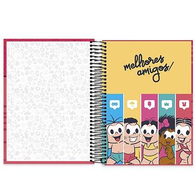 Caderno universitário capa dura 10x1 160 folhas Turma da Mônica Mônica 211927 Spiral PT 1 UN