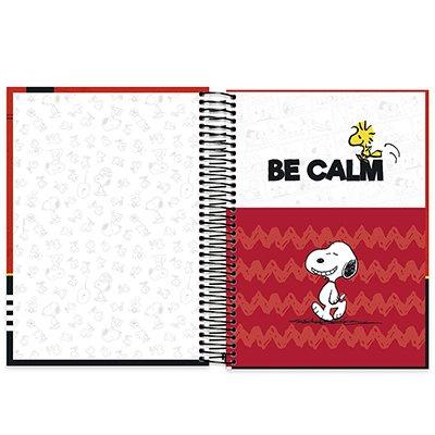 Caderno universitário capa dura 15x1 240 folhas Snoopy 212040 Spiral PT 1 UN