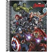 Caderno universitário capa dura 20x1 320 folhas Avengers 212092 Spiral PT 1 UN