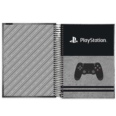 Caderno universitário capa dura 20x1 320 folhas Playstation 212152 Spiral PT 1 UN
