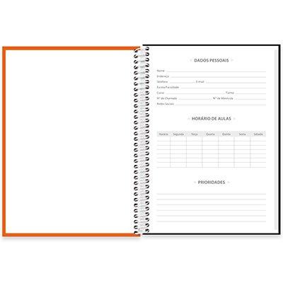 Caderno universitário capa dura 1x1 80 folhas Lumi Laranja 211683 Spiral PT 1 UN