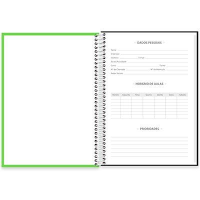 Caderno universitário capa dura 1x1 80 folhas Lumi Verde 211686 Spiral PT 1 UN