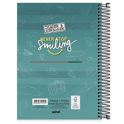 Caderno universitário capa dura 20x1 320 folhas Imagem e Mensagem 212126 Spiral PT 1 UN
