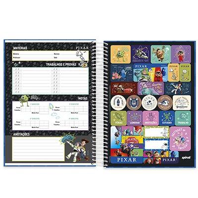 Caderno universitário capa dura 10x1 160 folhas Pixar 211962 Spiral PT 1 UN
