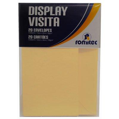 Envelope visita 115x80 berilo + cartão branco 4448R Romitec CX 20 UN