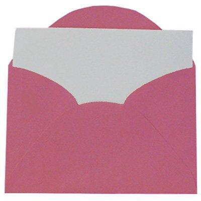 Envelope visita 115x80 pink + cartão branco 3037R Romitec CX 20 UN