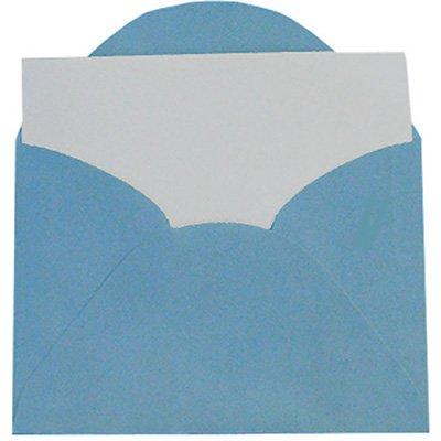 Envelope visita 115x80 azul royal + cartão branco 3038R Romitec CX 20 UN