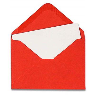 Envelope visita 115x80 vermelho + cartão branco 1295 Romitec CX 20 UN