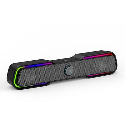 Caixa de som 6w, Preta, RGB Light, DHE-6002, 8YJ93AA, HP - CX 1 UN