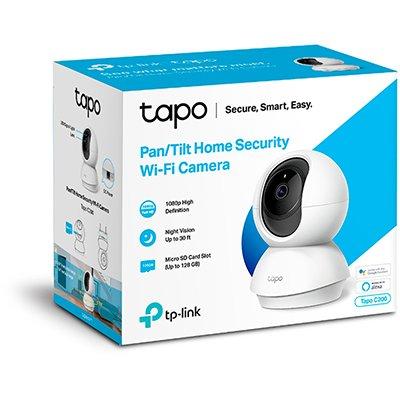 Câmera de segurança wifi IP  1080p 360 graus TAPO C200 Tp Link CX 1 UN