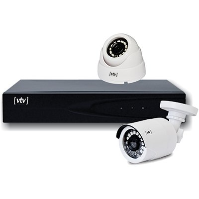 Kit de Monitoramento DVR c/2 câm. Full HD +HD 500gb Vtv Digital UN 1 UN