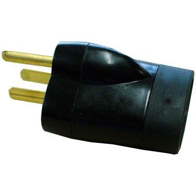Adaptador p/ tomada 2P+T padrão novo p/ antigo preto 1753 Daneva BT 1 UN